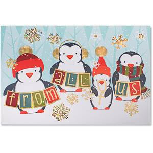 Adorable Penguins Deluxe Greeting Card