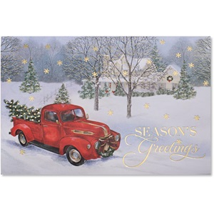 Vintage Truck Deluxe Greeting Card