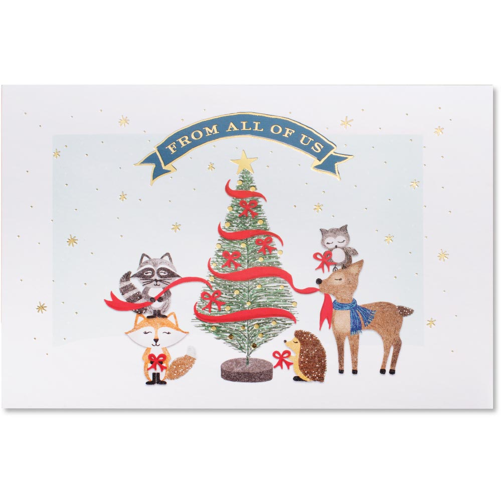 Whimsical Animals Deluxe Greeting Card   PaperDirect\'s