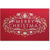 Nordic Merry Christmas Deluxe Greeting Card