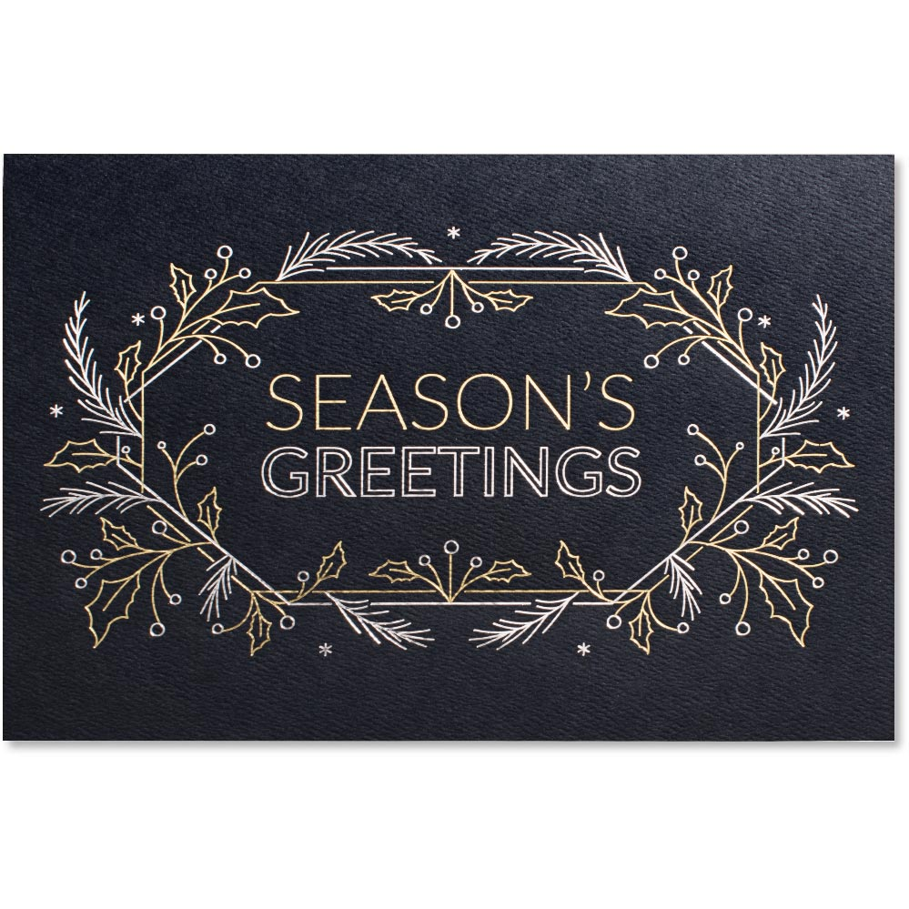 Paperdirects seasons greetings line art deluxe greeting card m4hsunfo
