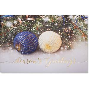 Delightful Ornaments Deluxe Greeting Card