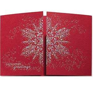 Dazzling Snowflakes Deluxe Greeting Card
