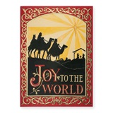Joyous Wisemen Deluxe Greeting Card