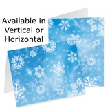 Graphic Snowflakes Custom Greeting Cards