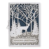 Deer in the Woods Premium Greeting Card