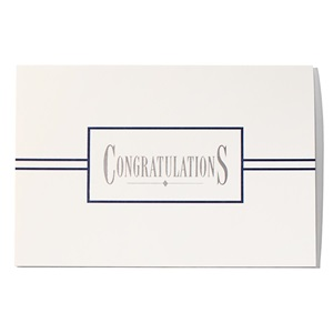 White and Black Congratulations Greeting Card