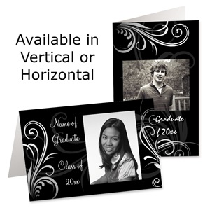 Stylish Graduation Photo Greeting Cards