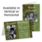 Dark Olive Holiday Photo Greeting Cards