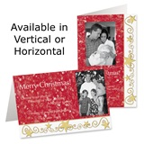 Gilded Stars Holiday Photo Greeting Cards