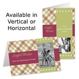Plaid Wishes Holiday Photo Greeting Cards