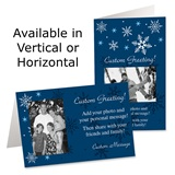 Snowflake Dreams Holiday Photo Greeting Cards