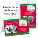 Tropical Santa Holiday Photo Greeting Cards
