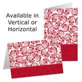 Red and White Holiday Photo Greeting Cards Custom Printed