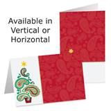 Paisley Tree Photo Greeting Cards