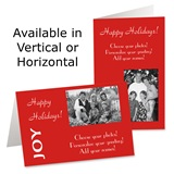 Joy Holiday Photo Greeting Cards