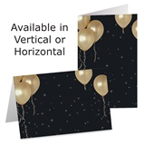 Gold Balloons Photo Greeting Cards