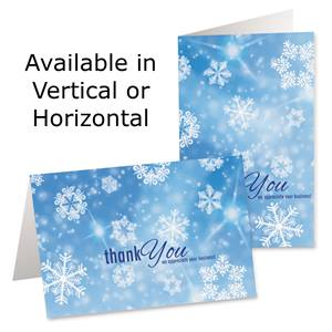 Graphic Snowflakes Photo Greeting Cards
