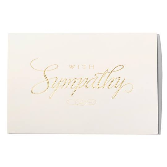 Gold Foil Sympathy Greeting Card Paper Direct