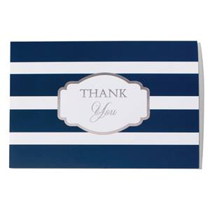 Stripes Thank You Greeting Card
