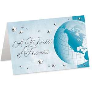 A World Of Thanks Custom Greeting Cards