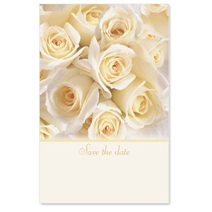 Cream Roses Save the Date Casual Invitations