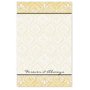 "Fancy Filigree ""Forever and Always"" Casual Invitations"