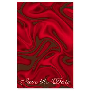 Red Silk Save the Date Casual Invitations