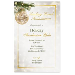 Golden Glitz Casual Invitations