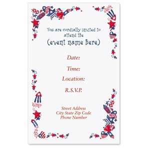 4th of July Casual Invitations