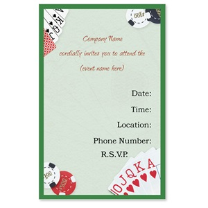 Casino Casual Invitations