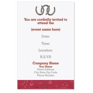 Old West Casual Invitations