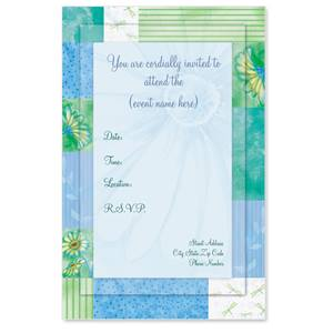 Spring Floral Casual Invitations