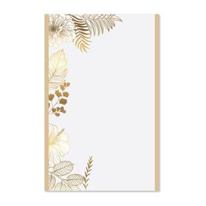 Gold Floral Casual Invitation