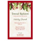 Holly Christmas Casual Invitations