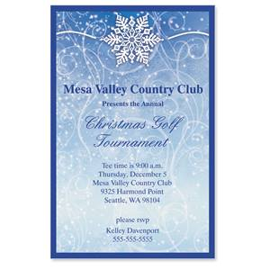 Winter Snow Casual Invitations