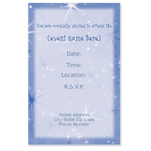 Celestial Casual Invitations