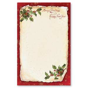 Old Fashioned Holly Casual Invitations