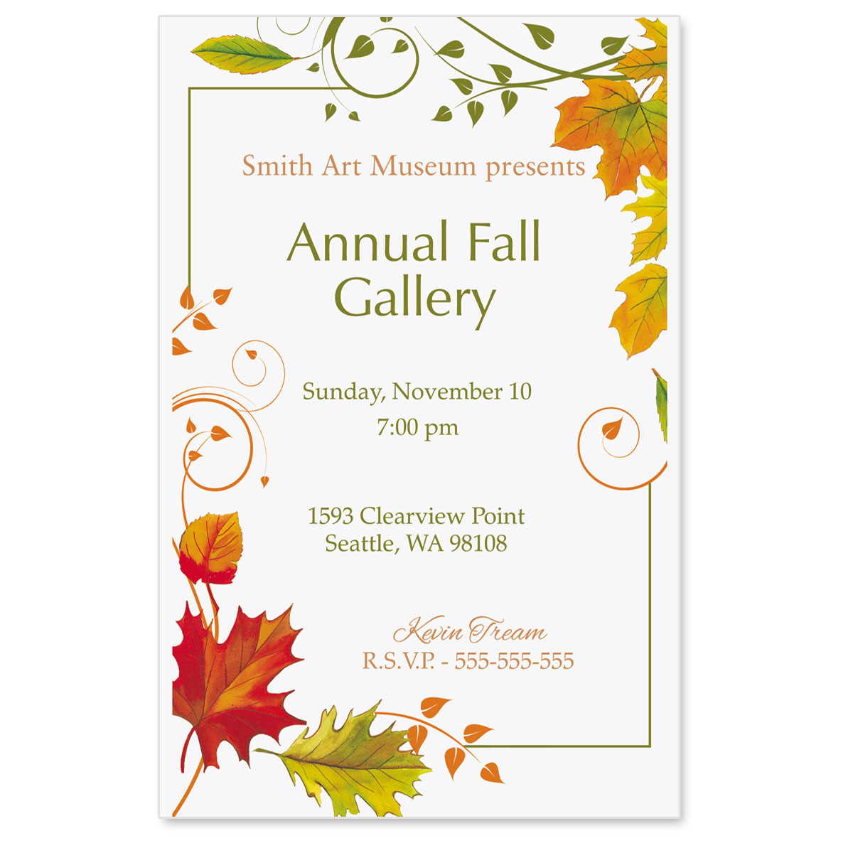 fall freshness casual invitations paperdirect s