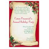 Christmas Scroll Casual Invitations