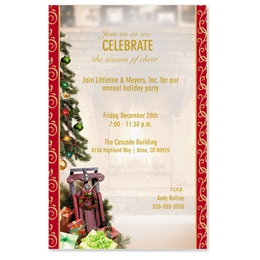 Christmas Memories Casual Invitations