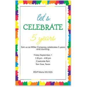 confetti casual invitations paperdirect s