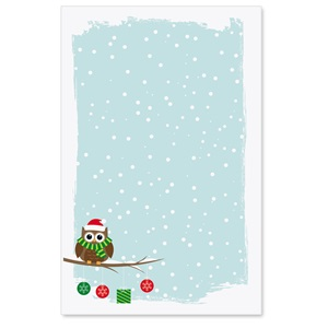 Holiday Owl Casual Invitations