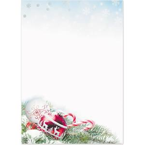 Red Ornament Specialty Flat Invitations