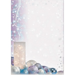 Frosted Votive Specialty Flat Invitations