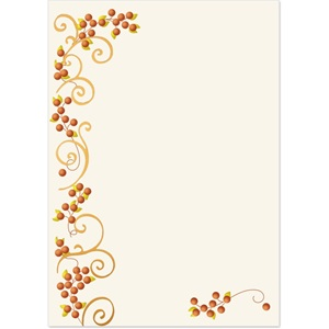 Autumn Scroll Specialty Flat Invitations