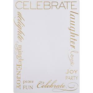 Words Border Specialty Flat Invitation