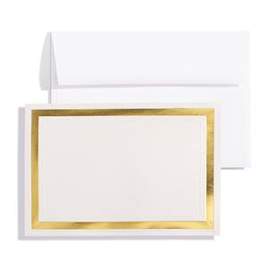 Pristine Gold on White Shimmer Specialty Flat Invitation