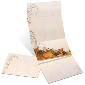Swirls of Autumn Fold-Up Invitations