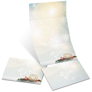 Crystal Candle Fold-Up Invitations